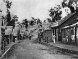 Picture relating to Gympie - titled 'View along Mary Street, Gympie, ca. 1870'