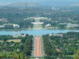 Picture of / about 'Parliament House' the Australian Capital Territory - Parliament House and Anzac Parade viewed from Mount Ainslie lookout