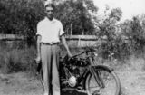 Picture relating to Queensland - titled 'Herb Beecher and his Waratah motor bike'