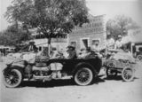 Picture relating to Winton - titled 'Winton-Longreach Mail Service delivered in an overloaded Hudson tourer, ca. 1920'