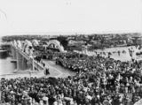 Picture relating to Brisbane - titled 'Crowds gather for the official opening of the Grey Street Bridge in Brisbane, 1932'