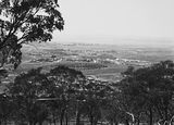 Picture relating to Kingston - titled 'View from Red Hill over Manuka and Kingston to Duntroon. Collins Park in the centre.'