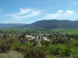 Picture relating to Corryong - titled 'Corryong as seen from hills around Mount Elliot'