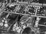 Picture relating to Bowen Hills - titled 'Aerial view of Bowen Hills, Brisbane, ca. 1933'