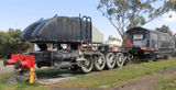 Picture relating to Queenscliff - titled 'Garratt Steam Locomotive Resoration Queenscliff'