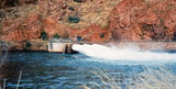 Picture of / about 'Lake Argyle' Western Australia - Lake Argyle Ord River Dam Outlets 1990