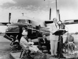 Picture relating to Queensland - titled 'Official unveiling of Sir Henry Abel Smith, a Fokker Friendship F27'