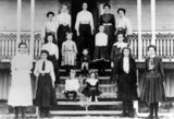 Picture relating to Stanthorpe - titled 'Cambridge College students and teachers, Stanthorpe 1904'