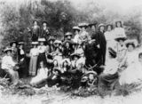 Picture relating to Stanthorpe - titled 'Picnic at Second Bald Rock, Stanthorpe, ca. 1903'