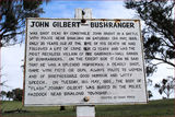 Picture relating to Binalong - titled 'Memorial Plaque to John Gilbert Bushranger'