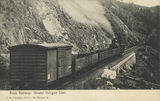 Picture relating to Mount Morgan - titled 'Abt rack railway up the Razorback Range, near Mount Morgan'