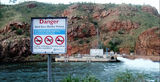 Picture relating to Lake Argyle - titled 'Lake Argyle Hydro Station'