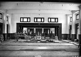 Picture relating to Parliament House - titled 'Interior of Old Parliament House - Dining room under construction'