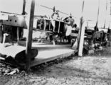 Picture relating to Longreach - titled 'Construction of a Qantas aeroplane at Longreach, ca. 1928'