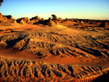 Picture relating to Mungo - titled 'Mungo Lunette erosion patterns'
