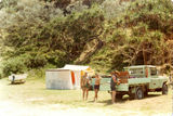 Picture relating to Fraser Island - titled 'Beach Camp on Fraser Island '