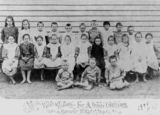 Picture relating to Urangan - titled 'Students from Urangan Farms State School, Hervey Bay, Queensland, 1908'