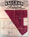 Picture relating to Redcliffe - titled 'Estate map of the Vaughan Estate, Redcliffe, 1890-1900'