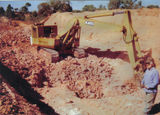 Picture relating to Opalton - titled ' Open Cut Mining-Opalton'
