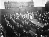 Picture relating to Parliament House - titled 'Senate Chamber with Duke and Duchess of York officiating at the opening of Old Parliament House'