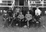 Picture relating to Eidsvold - titled 'Eidsvold councillors posing for an official photograph, Eidsvold, ca. 1915'