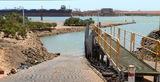 Picture relating to Port Hedland - titled 'Boat Ramp and ship loading Ore Port Hedland'
