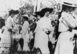 Picture relating to Yandina - titled 'Ladies at the Yandina race meeting, ca.1900'