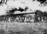 Picture relating to Barcaldine - titled 'Group outside the Barcaldine School, Barcaldine, Queensland, 1912'