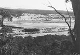 Picture relating to Braddon - titled 'North end of Braddon from Mt Ainslie. Corroboree Park in the centre.'