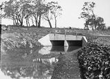 Picture relating to Duntroon - titled 'Drainage culvert on Duntroon Road now Fairbairn Avenue'