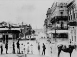 Picture of / about 'Brisbane' Queensland - Flood waters seen from the corner of Adelaide and Creek Streets, Brisbane, 1893