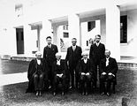 Picture of / about 'Parliament House' the Australian Capital Territory - A group of Old Parliament House officials, Frank Green on the left.