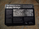 "Picture relating to Wollombi Brook - titled 'Wollombi Brook   "" Broke Bridge"" '"