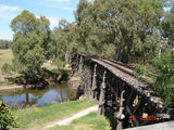 Picture relating to Gundagai - titled 'Historic bridge over the Murrumbidgee River'