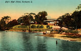 Picture relating to Southport - titled 'Hand coloured postcard of the Boys' High School at Southport, Queensland'