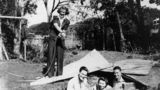 Picture relating to Manly - titled 'American and Australian soldiers with two female friends, Manly, Brisbane, 1942'