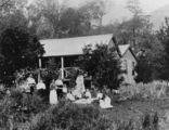 Picture relating to Queensland - titled 'Family gathering on the lawn, 1900-1910'