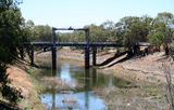 Picture relating to Wilcannia - titled 'Bridge at Wilcannia'