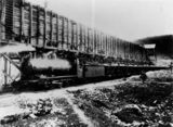 Picture relating to Marmor - titled 'Loaded train stationary beside the quarry at Marmor, about 1906'