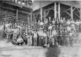 Picture relating to Chillagoe - titled 'Workers from the Chillagoe Smelting Works, Queensland, ca. 1907'