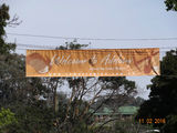 Picture relating to Adelong - titled 'Banner over Tumut St'