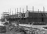 Picture relating to Black Mountain - titled 'CSIR building under construction, Clunies Ross Street, Black Mountain.'