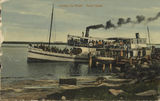 Picture relating to Tweed Heads - titled 'Leaving the wharf at Tweed Heads, ca. 1911'