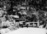 Picture relating to Atherton Tableland - titled 'Studebaker Tourer of the Cairns Tableland Motor Co. on the Cairns-Yungaburra Road, 1925'