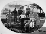 Picture relating to Eudlo - titled 'Timber workers at Eudlo Sawmill, 1932'