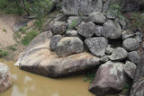 Picture relating to Warialda - titled 'Granite Boulders, Reedy Creek at Cranky Rock'