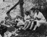 Picture relating to Harlin - titled 'Picnic in the bush at Harlin, ca. 1926'