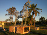 Picture relating to Boonah - titled 'Boonah - Draughthorse monument'