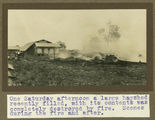Picture relating to Gatton - titled 'Hayshed fire at Gatton College, ca. 1924'