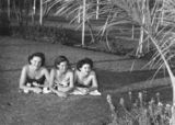 Picture relating to Mount Isa - titled 'Sunbathers at the new Mount Isa swimming pool, 1954'